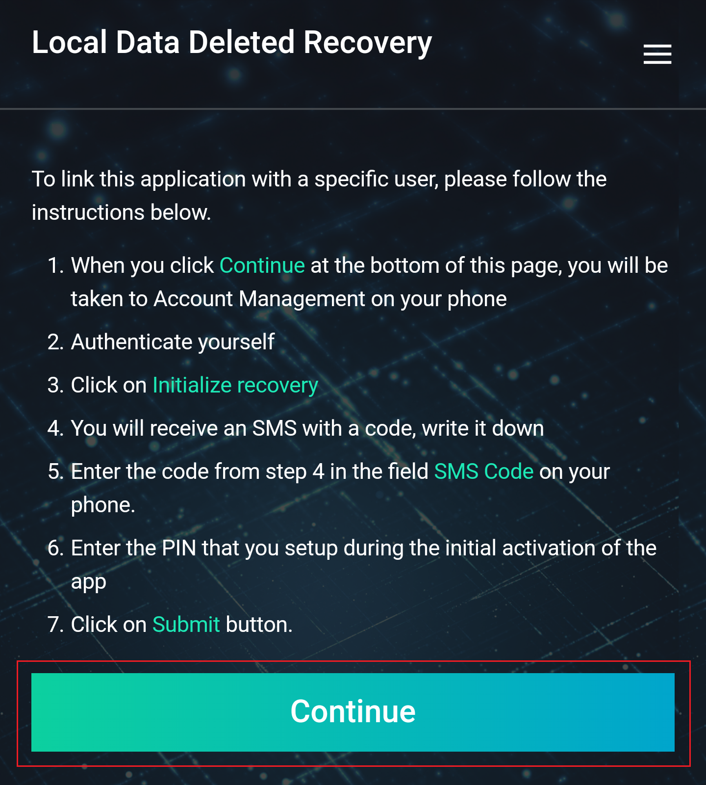 Local Data Deleted Recovery directions