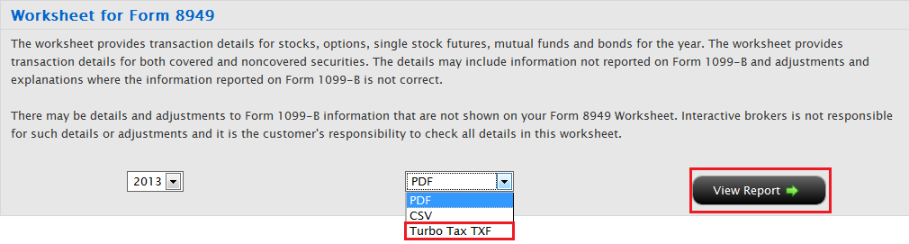 Steps For Importing Worksheet For Form 8949 To Turbotax Ib