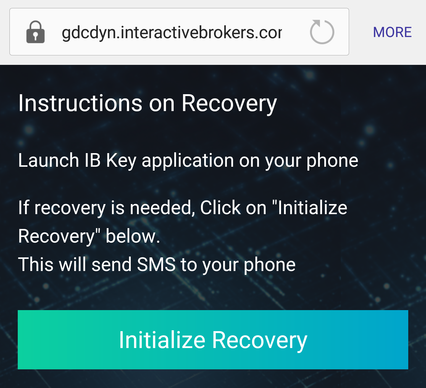 Instructions on Recovery