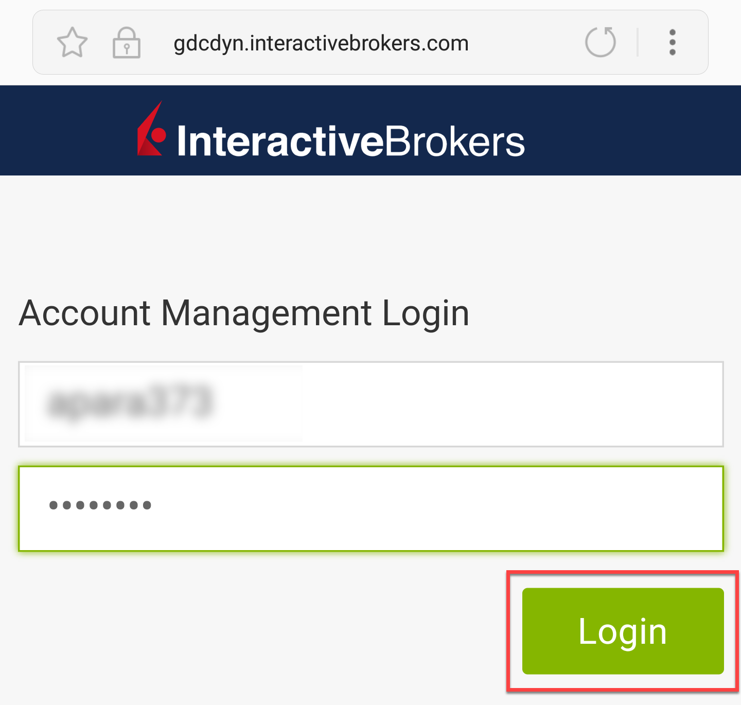 Account Management Login