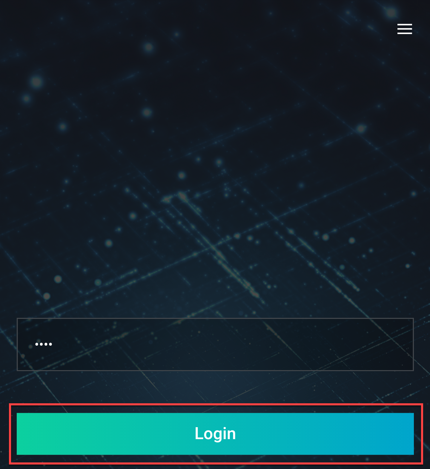 Enter Pin and tap login
