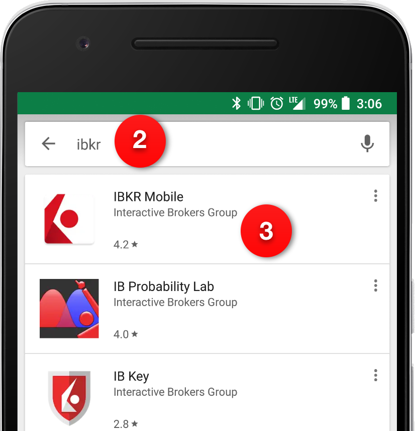 Search for IB Key on Google Play Store