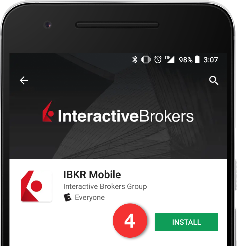 Install IB Key on Google Play Store