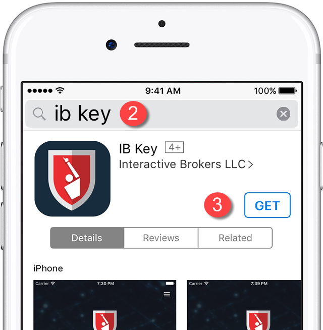 IB Key - Download from App Store