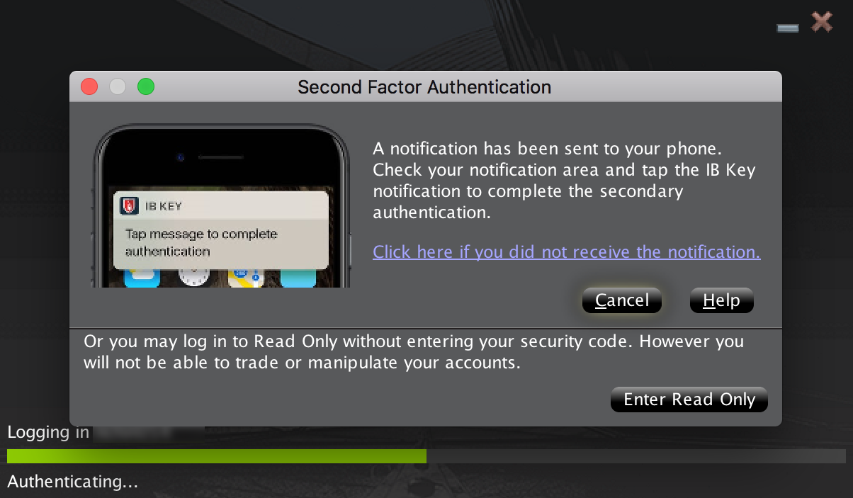 Two Factor Authentication Prompt