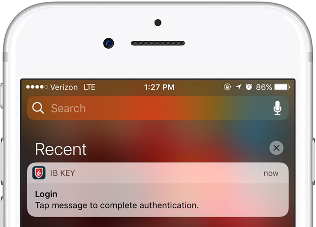 Generar notificación Push de IB Key en iPhone.