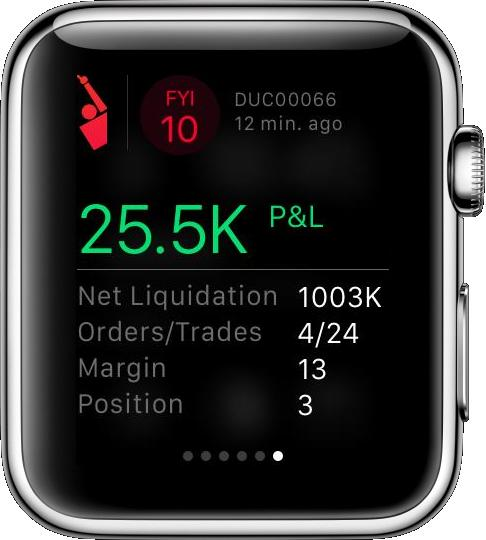 Apple Watch Companion App Glance Screen