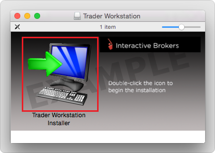 Double-click the Trader Workstation icon to initiate the installer