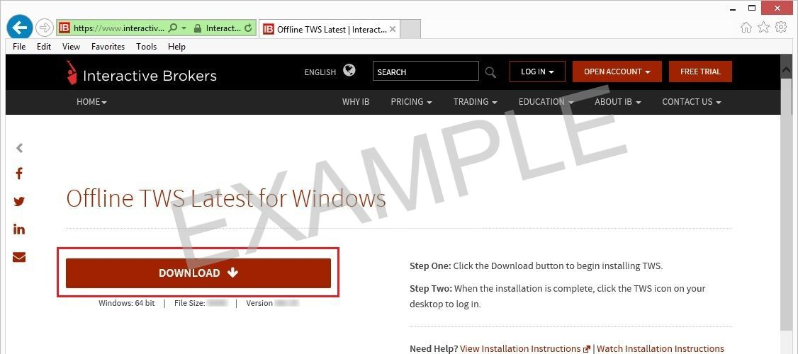 Offline TWS Latest for Windows - click download